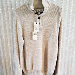 LUCKY BRAND Men Knit Pullover Sweater Beige Medium